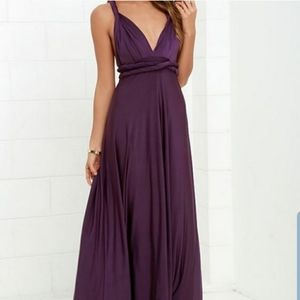 Lulu's always stunning convertible maxi dress L